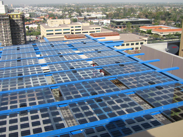 Arizona's first PV High-rise - Optima Biltmore Towers Solar Arbors included the redesign of these PV panels and some creative design work. Understanding the impact of sun angles and shading are often under-addressed.