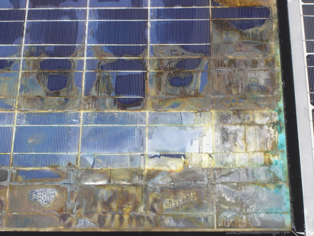 Solar Panel - too hot - There have always been PV products that do not hold up well due to product quality,  environment and other factors. How do you avoid this, picking a product like this and the resulting cost and mess?